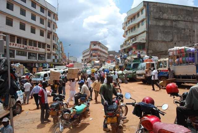 Centro di Kampala, capitale dell'Uganda