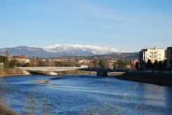 Lo sfondo dei monti Lessini