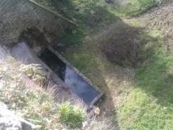 I resti del sistema di drenaggio utilizzato dai Romani per risolvere il problema di frani e alluvioni causato dal terreno collinare.