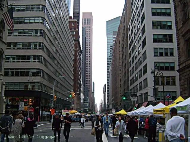 Il flea market su Madison Avenue a New York