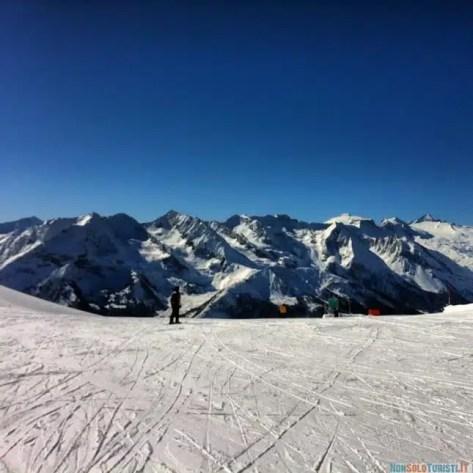 La bellissima vista sulle alpi