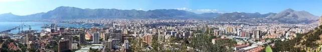 Panorama di Palermo da Monte Pellegrino