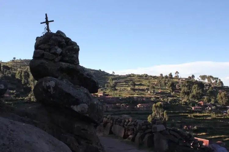Scorcio dell'isola Taquile, sul Lago Titicaca