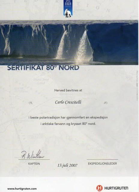 Certificato Svalbard, Norvegia