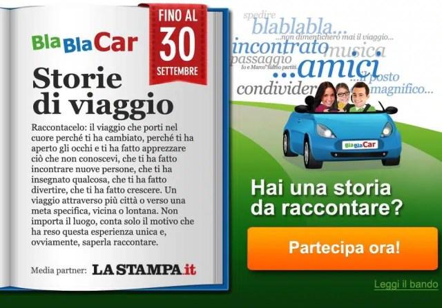 Il concorso BlaBlaCar Storie di Viaggio