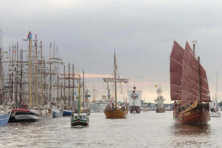 Velieri alla Hanse Sail, Germania