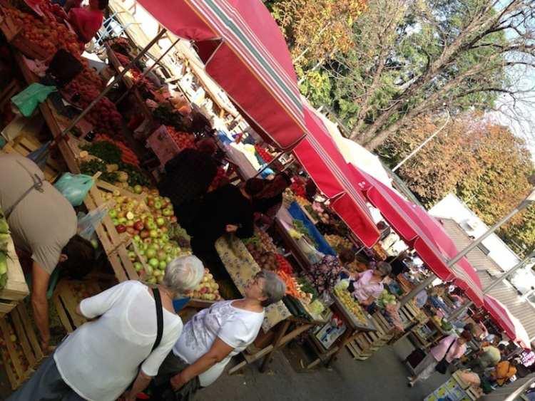 Mercato agricolo - Zagabria, Croazia