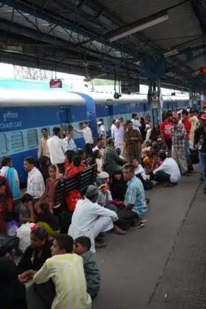 Stazione ferroviaria in India