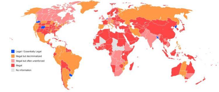 Status legale della cannabis nel mondo