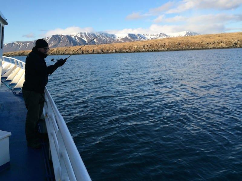 Open sea fishing in Iceland