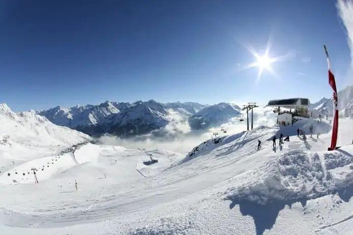 Sciare a Solden, in Tirolo
