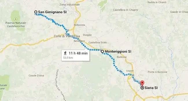San Gimignano, Monteriggioni, Siena