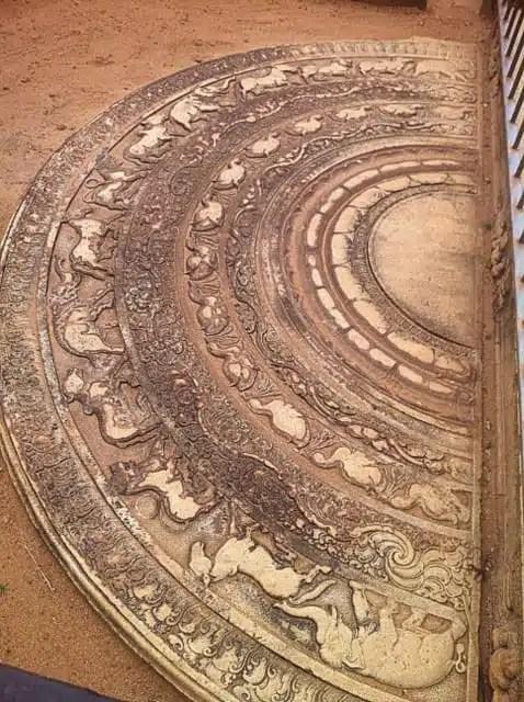 Moon Stone - Anuradhapura, Sri Lanka