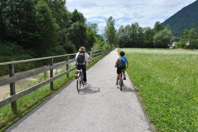 Cicloturismo in Valsugana - Trentino, Italia