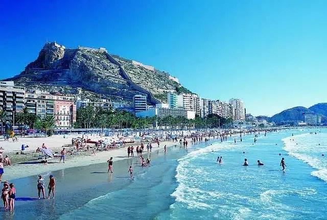 Playa El Postiguet - Alicante, Spagna