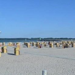 Strandkorb spiaggia Travemünde Lubecca mare