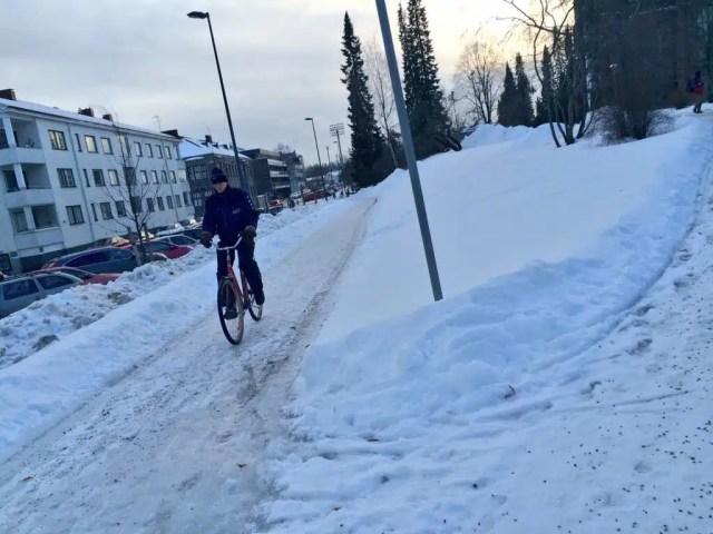 In bici a Mikkeli, Finlandia