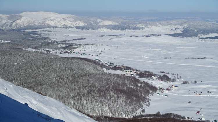 Panorama dalla piste di sci
