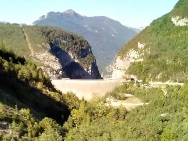 Viaggio in moto - diga del Vajont