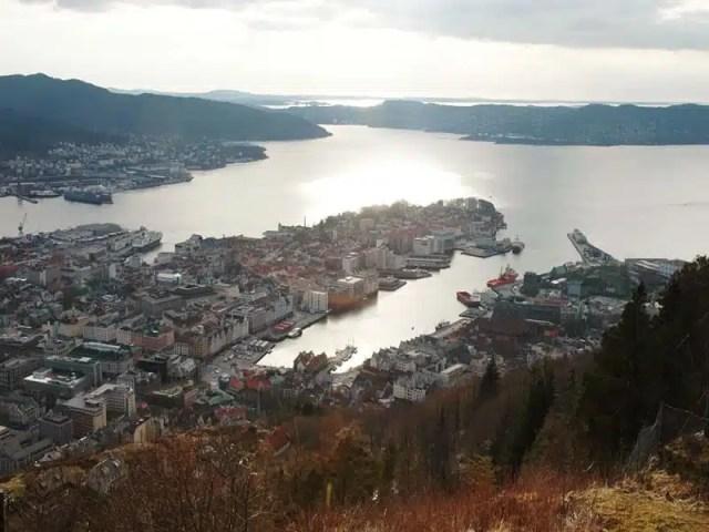 Vista dal monte Floyen - Bergen Norvegia