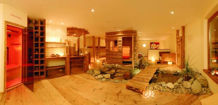 La sauna del Vitalpina Erlebnishotel Walthershof