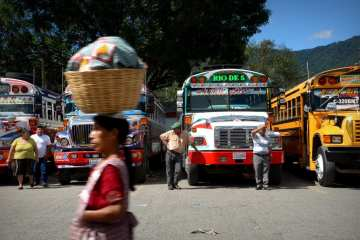chicken buses Guatemala