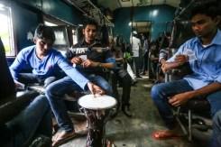 Giocatori di carte sul treno, in terza classe