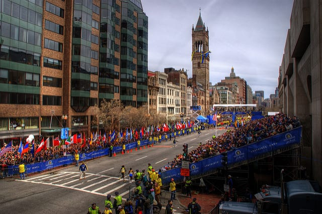 Maratona di Boston dal Lenox