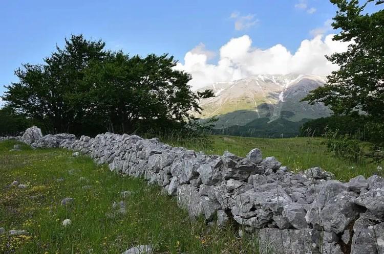muretti in pietra della Majella