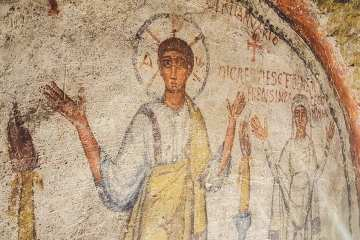Particolare all'interno delle Catacombe di San Gennaro