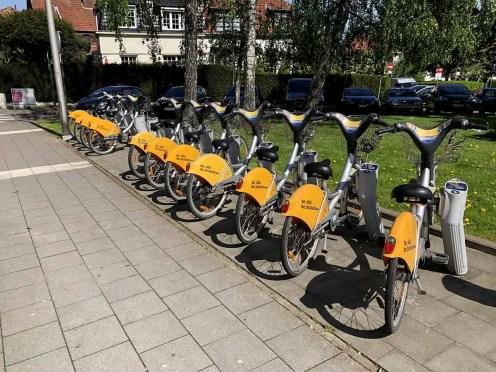 Affitto bici lungo le strade