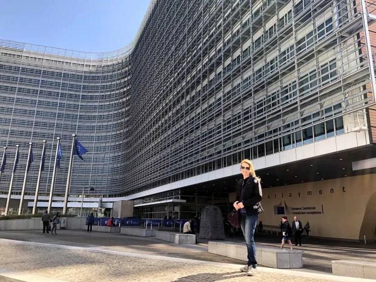 Presso il palazzo Berlaymont
