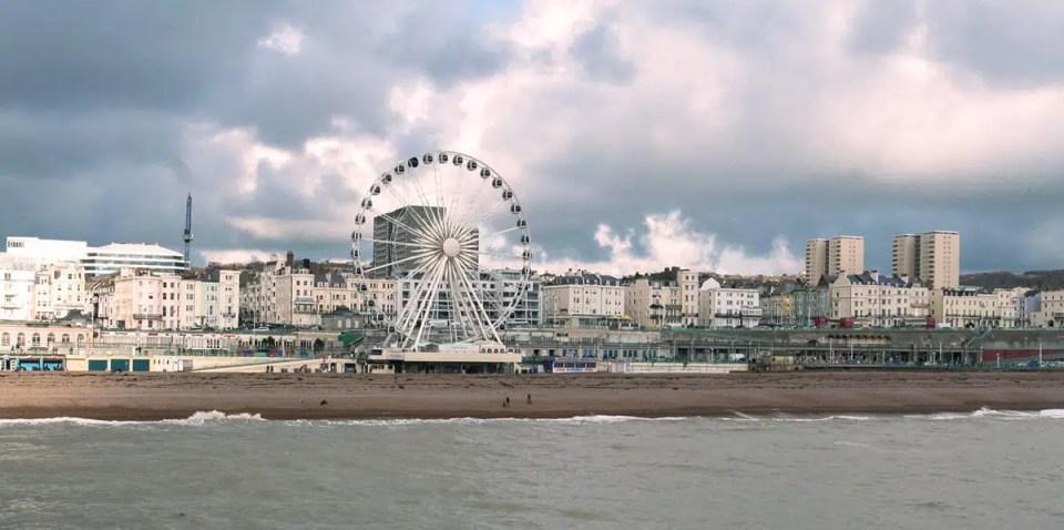 la ruota panoramica a Brighton