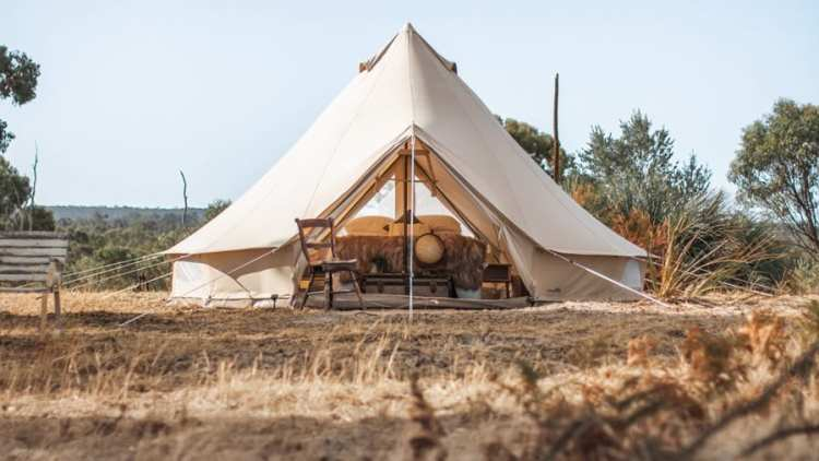 Tent On A Hill Australia