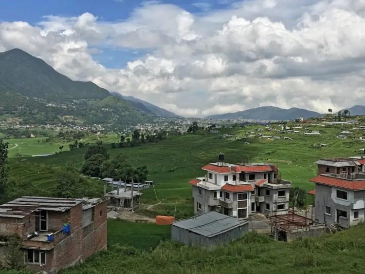 Vista sulla Valle di Kathmandu nei pressi di Bungmati - nepal fai da te