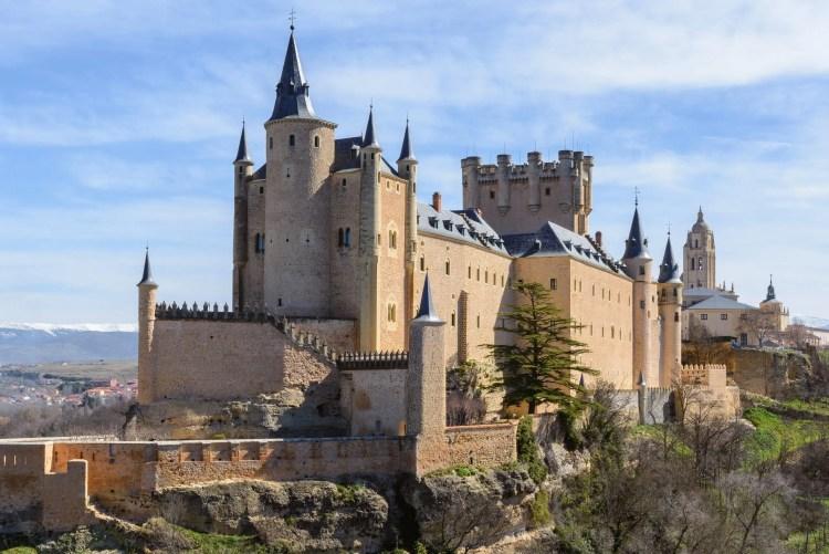 L'Alcazar è l'antico castello di Segovia