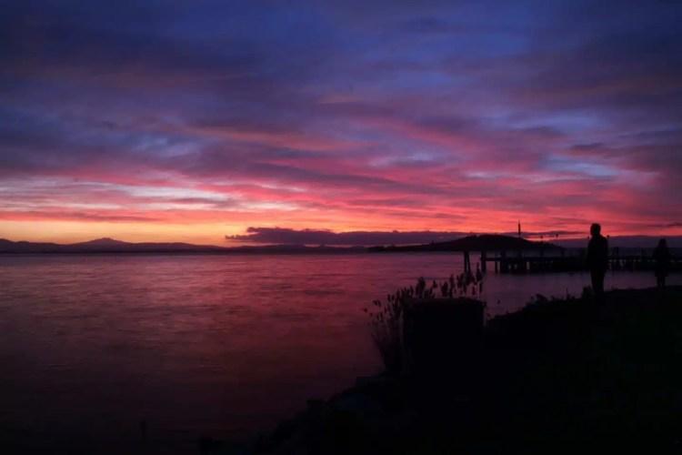 Tramonto dal lago Tastimeno
