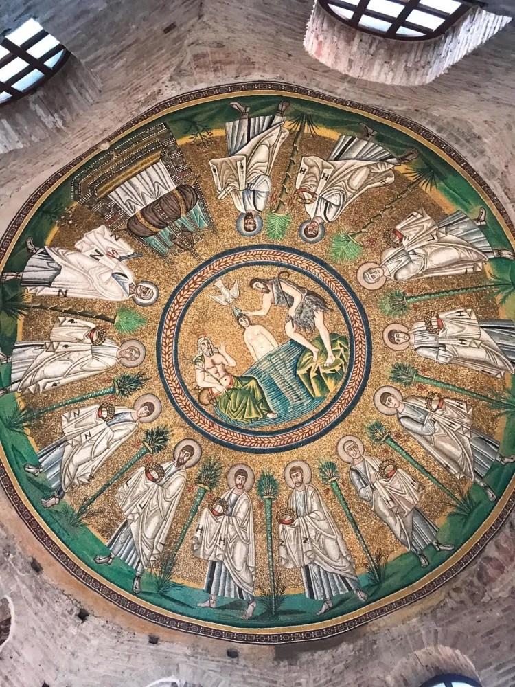 mosaico del Battistero degli Ariani a Ravenna