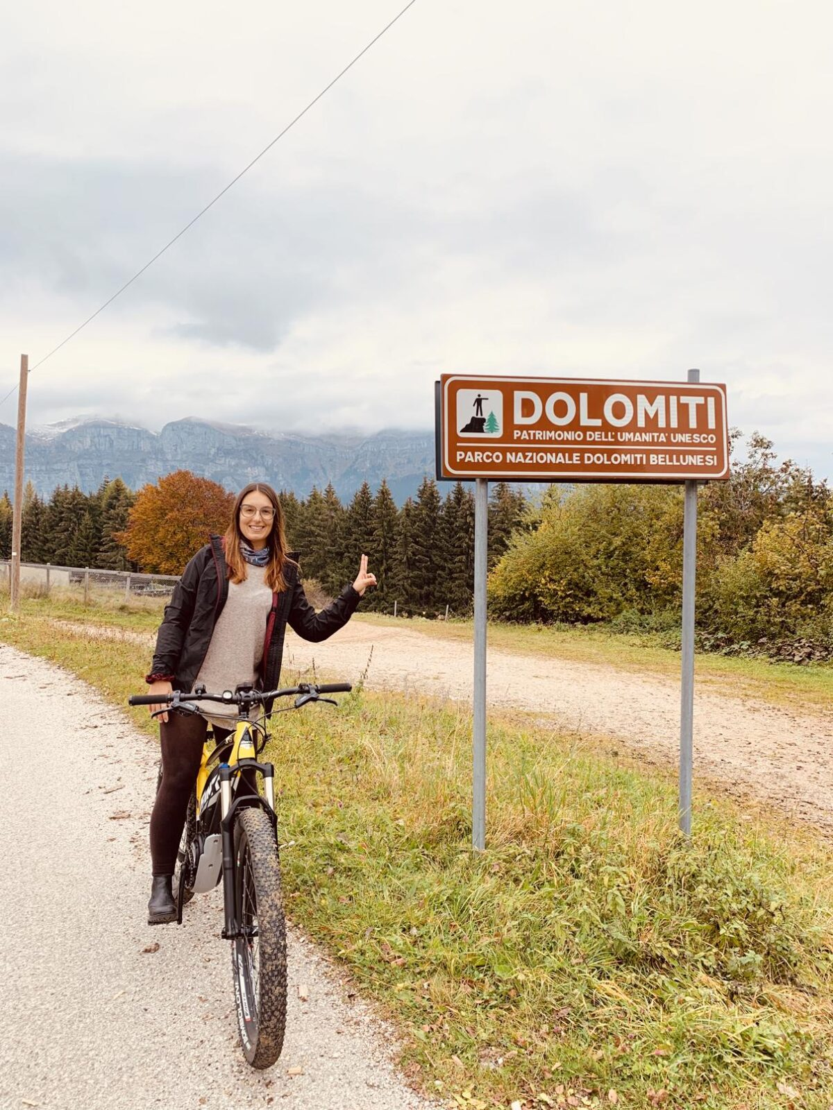 in bici in Val Belluna