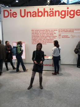 Alessandra Leipziger Buchmesse fiera del libro Lipsia Leipzig 2018 Die Unabhängige case editrici indipendenti