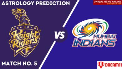 KKR vs MI Match Astrology Prediction, Top Picks, Dream11 Tips, Captain & Vice-Captain, and who will win Kolkata Knight Riders or Mumbai Indians