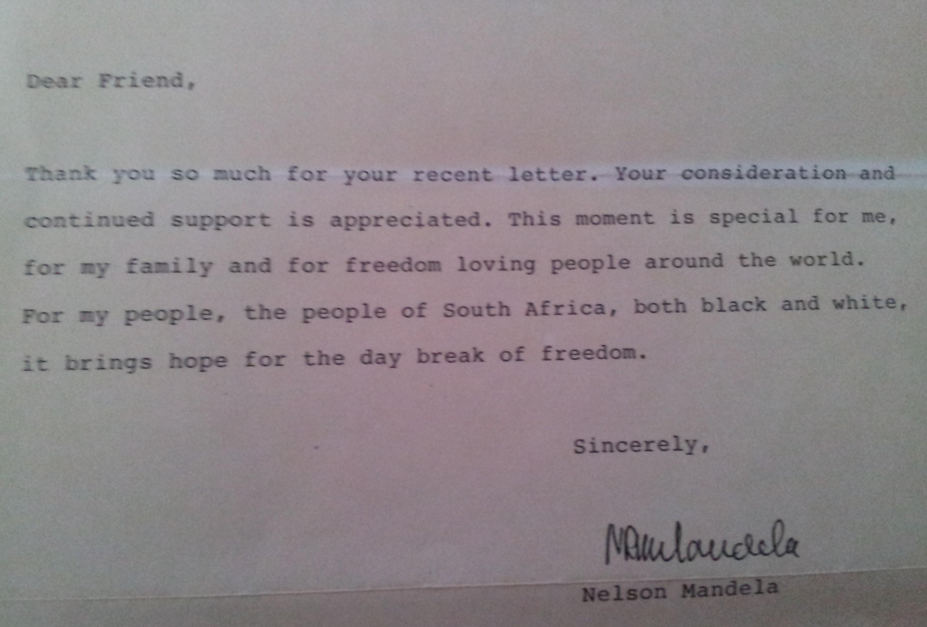 Letters to Mandela   Non-Stop Against Apartheid