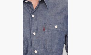 Levis Stock Work Shirt - Chambray Indigo3