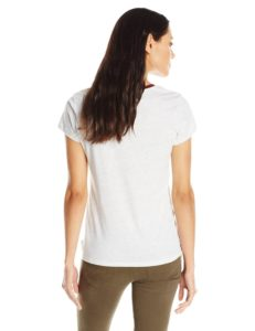 Levi's Women's Split Crew Neck 501 T-Shirt - White Heather2