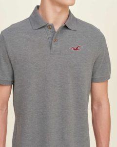 Hollister Solid Pique Polo - Grey3