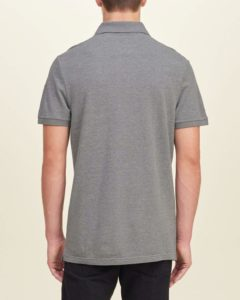 Hollister Solid Pique Polo - Grey4