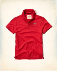 Hollister Solid Pique Polo - Red