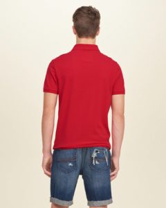 Hollister Solid Pique Polo - Red3