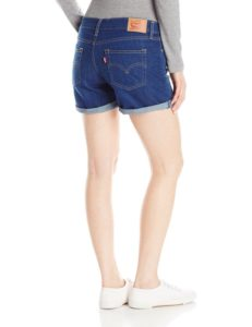 Levis Womens Mid Length Short - Summer Shade2