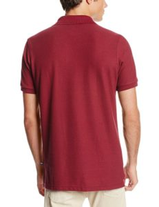 Lee Uniforms Modern Fit Short Sleeve Polo Shirt - Burgundy2